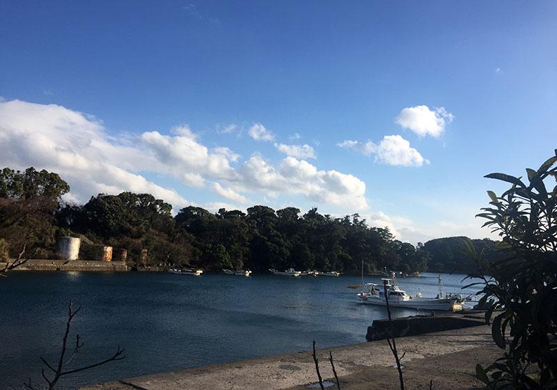 島原の港の風景