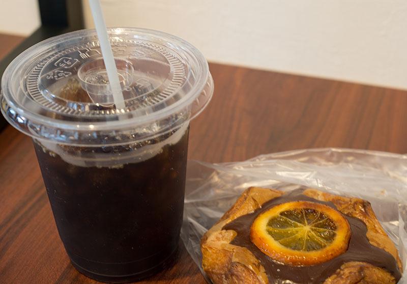 満月なオレンジとコーヒー